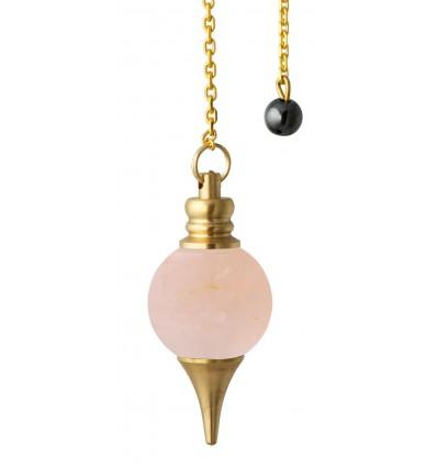 Pendule Sphéroton - Quartz rose