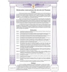 Rosicrucian declaration of human duties.