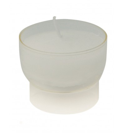 Veilleuse avec  coque en plastic pour cierge