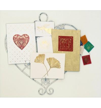 Suspension Coeur pour cartes postales