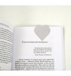 Marque-Page Coeur argenté