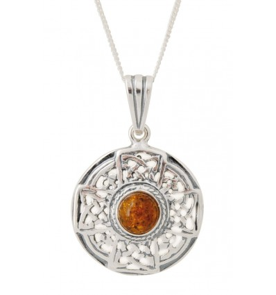 Pendant with amber bead
