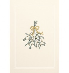 New year mistletoe card
