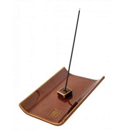Brown incense holder