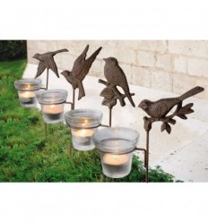 Garden tealight holders
