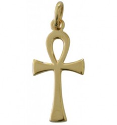 Ansate cross 18 k gold-plated