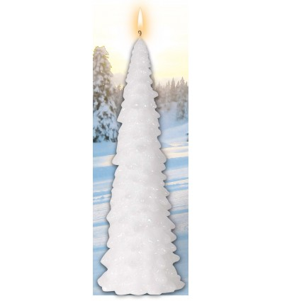 White Christmas tree Candle