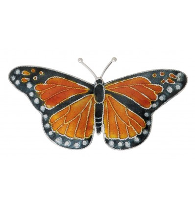 Broche Papillon monarque