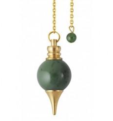 Spheroton pendulum - Nephrite jade