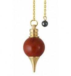 Pendule Sphéroton - Jaspe rouge