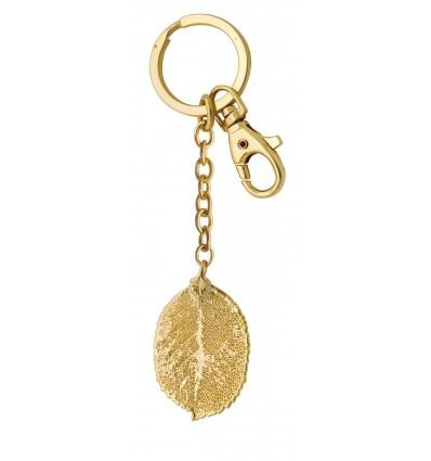 Rose leaf key ring