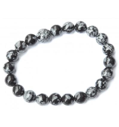 Mottled obsidian bracelet