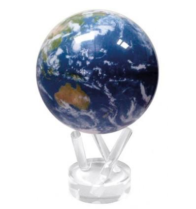 Deep blue terrestrial globe