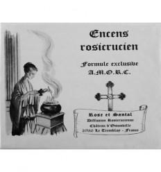 Encens rosicrucien à la rose et au santal (360 cubes)