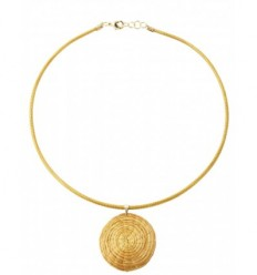 Collier en or végétal avec médaillon