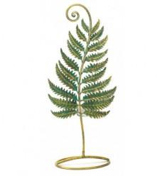 Fern leaf with tea light holder