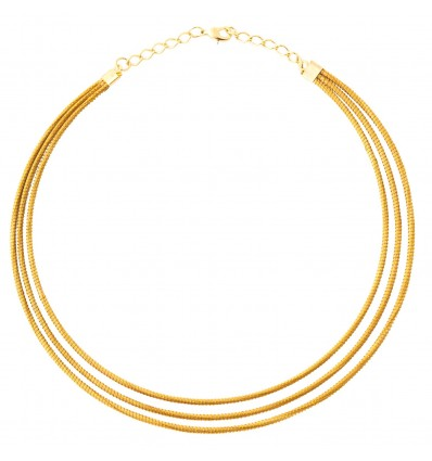 Three-row necklace