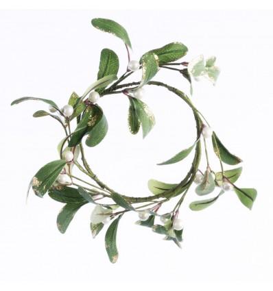 Mistletoe wreath - Pack of three
