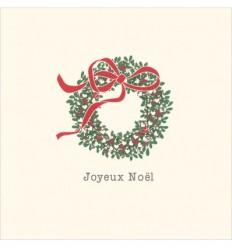 Carte Joyeux Noel A Envoyer Par Mail.Carte Postale Couronne De Noel
