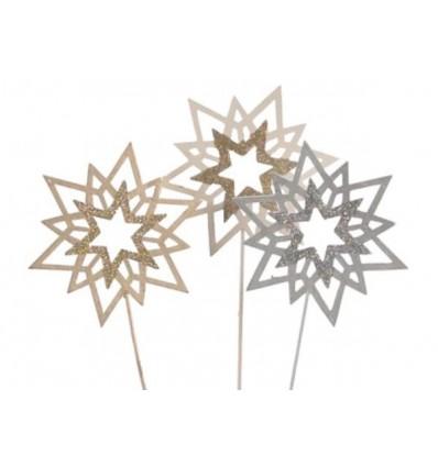 Set of 3 Glitter Stars