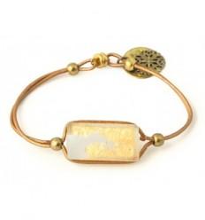 Zen Bracelet Hand cut jewellery in frosted glass