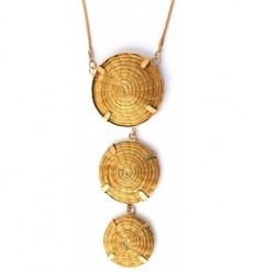 Three medallion Necklace