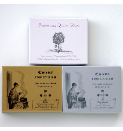 Pack of 3 Rosicrucian incenses (24 cubes/box)