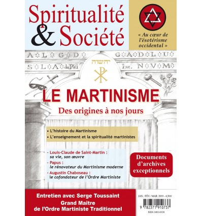 SPIRITUALITE ET SOCIETE MARTINISME