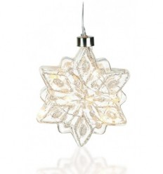 Snowflake Light-up bauble