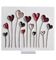 Céramique champ de cœurs