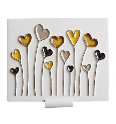 Field of hearts ceramic