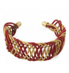 Bracelet Kiwi rouge et or