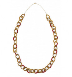 Red and gold Artemesia necklace