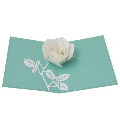 Origami white rose