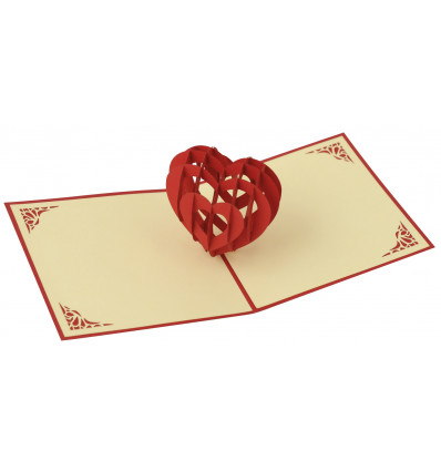 Red heart Origami
