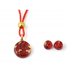 Murano set red and gold