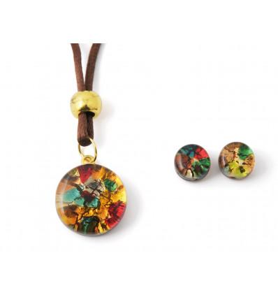 Parure verre de Murano multicolore