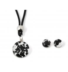 Murano set black and silver