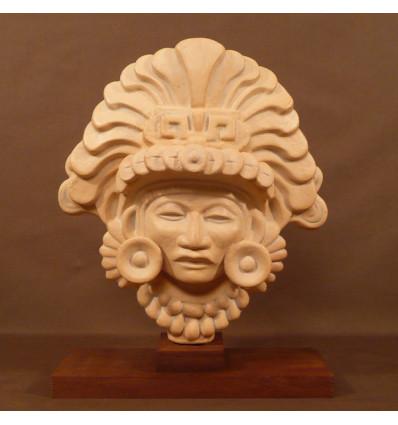 Masque à plumes aztèque