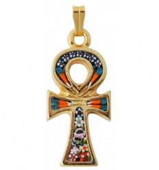 Croix ansée en verre de Murano