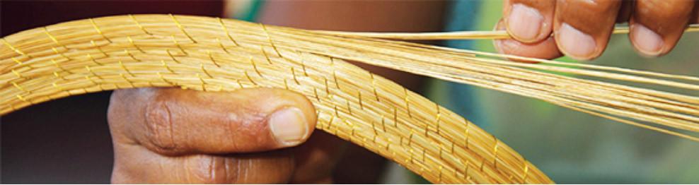 Golden grass jewellery