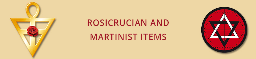 Rosicrucian and martinist items